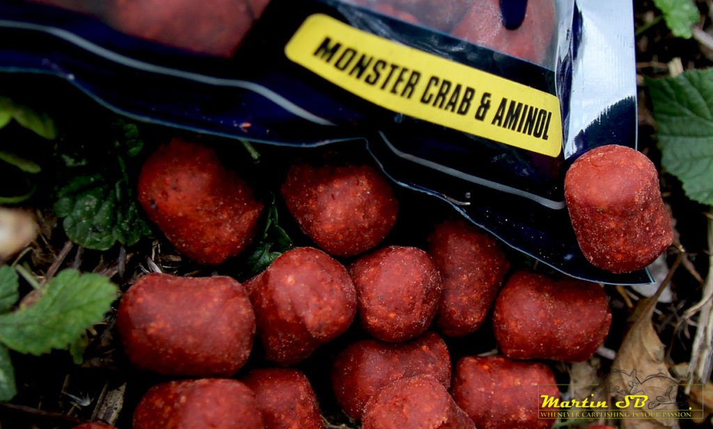 Martin SB Xtra Range Monster Crab & Aminol boilies in dumbell formaat